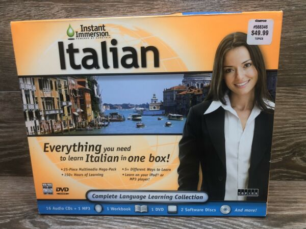 Speak Italian With Instant Immersion Complete Language Learning Collection $8.95