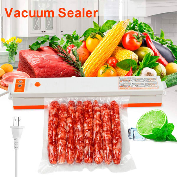 Commercial Vacuum Sealer Machine Automatic Food Preservation Saver w Seal Bags