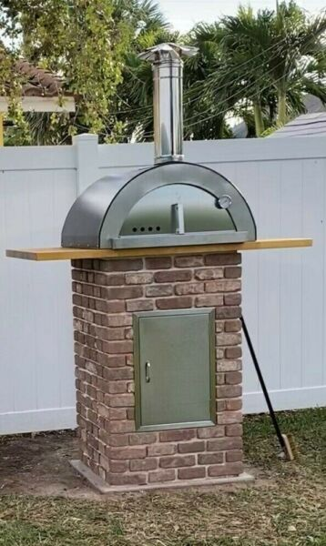 Outdoor Wood Fired Pizza Oven quot;Nonno Peppequot; With Lava Stone Floor Made in Italy $1300.00