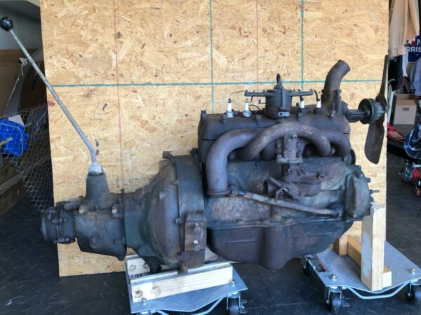 1930 Ford Model A engine and transmission assembly