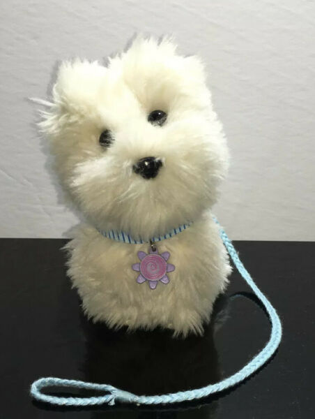 American Girl Doll Pet Dog Coconut With Blue Collar amp; Leash Retired In 2008 $14.00