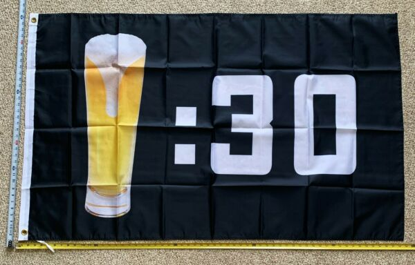 Beer Flag FREE SHIPPING Black Beer Thirty USA Claw Busch Bud Trump Sign Sign 3x5