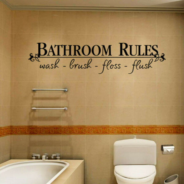 Removable DIY Wall Sticker Mural Home Decal Decor For Bathroom $6.46