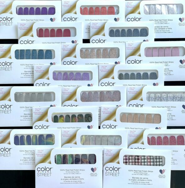 FREE SHIPPING 3Sets Color Street Nail Polish Strips*NEW *RETIRED *HTF*CURRENT* $16.50