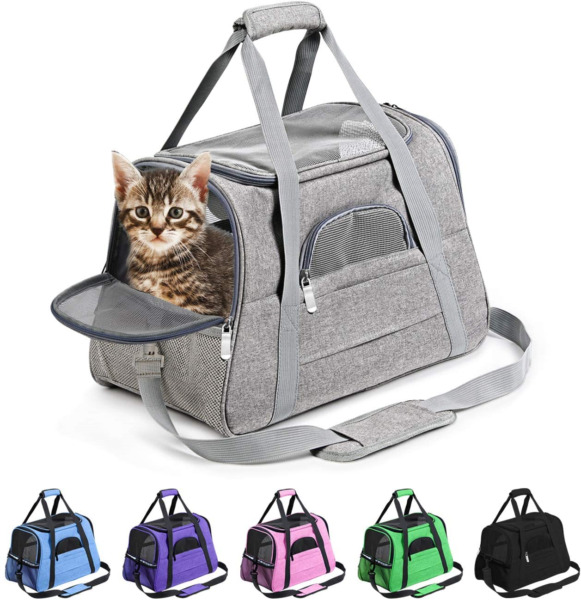Prodigen Pet Carrier Airline Approved Pet Carrier Dog Carriers for Small Dogs $30.51