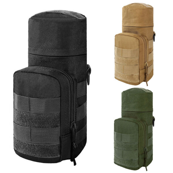 Outdoor Durable Tactical Molle Travel Water Bottle Holder Pouch Carrier Bag Case $11.99