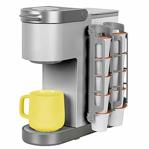 Coffee Pod Holder Side Mount K Cup Pods Dispenser compatible with Keurig Coffee