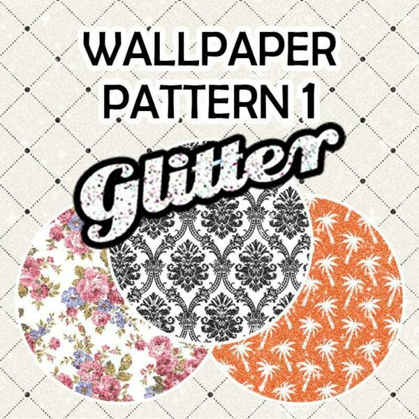 Wallpaper Patterned Glitter HTV 12quot; ROLL **FREE SHIPPING** $36.15