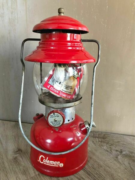 COLEMAN MODEL CHERRY RED 200A LANTERN DATED 10 62 W BOX $250.00