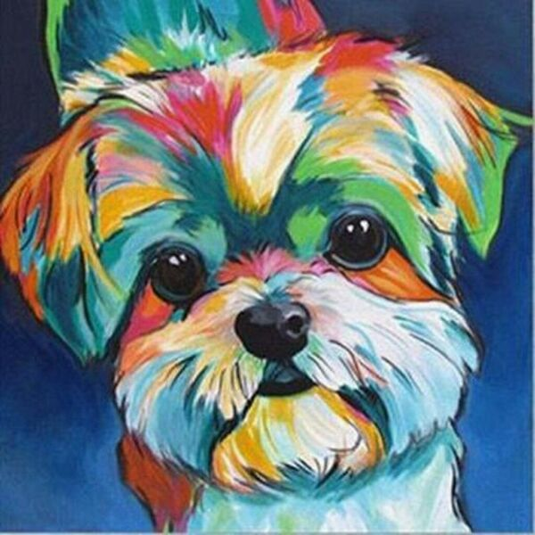 5D Diamond Painting By Number Kit Full Drill Yorkies Dog DIY Embroidery Cute New $10.99