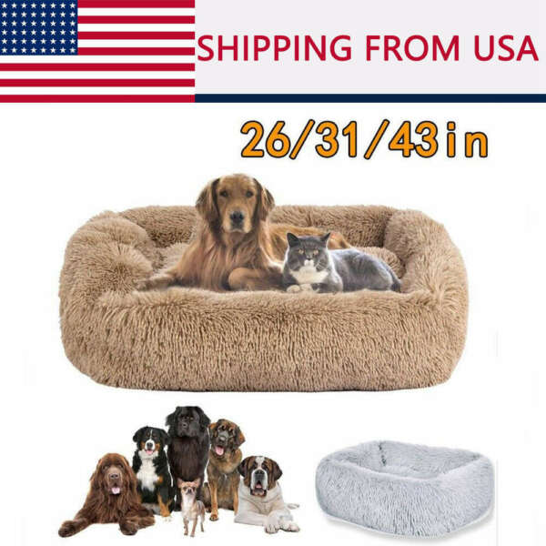 Large Dog beds Machine Washable Comfortabl Calming Bed Sleeping Mat Cozy Kennel $20.56