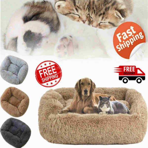 xl Long Plush Dog Beds For Large Dogs Pet Products Cushion Soft for Anti Anxiety $24.18