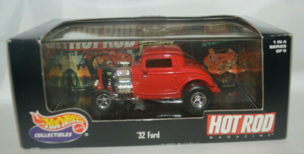 Hot Wheels Collectibles Hot Rod Magazine #x27;32 Ford Red Series 1 1999