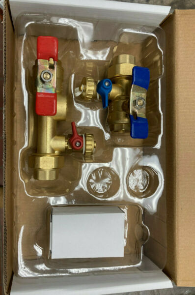 Rinnai 3 4quot; IPS Tankless Water Heater Isolation Valves Kit With Relief Valve $48.00