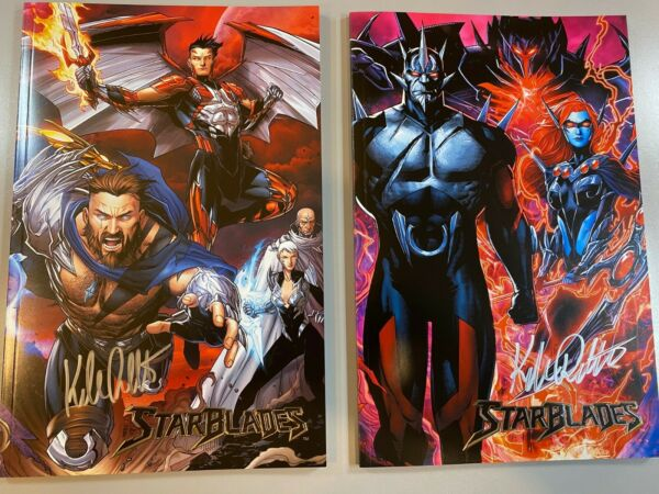 STARBLADES HEROES VILLAINS variants FIRST ISSUE SIGNED by Kyle Ritter $100.00