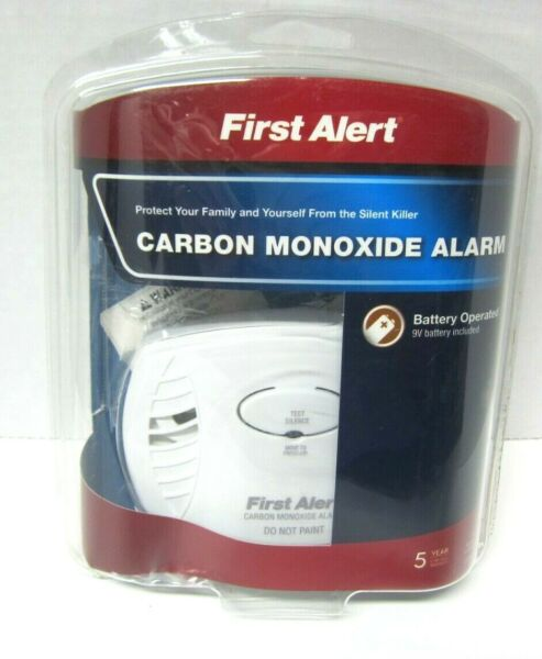 First Alert Carbon Monoxide Detector Alarm Battery Operated $14.95