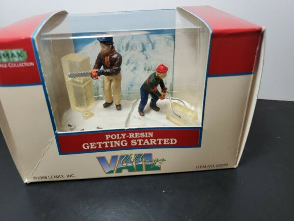 Lemax Vail Village Getting Started 1998 Accessory Poly Resin Rare Retired New