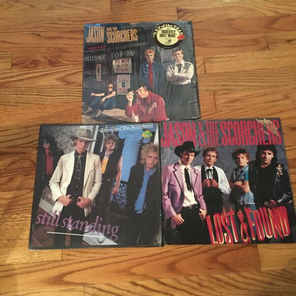 3 RECORD LOT JASON AND THE SCORCHERS ALT COUNTRY ROCK NM