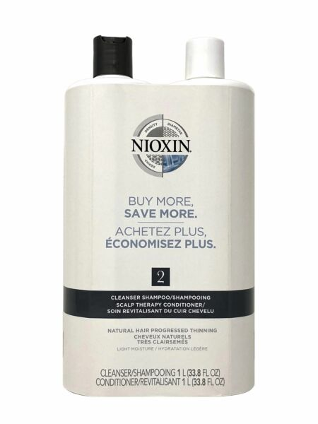 Nioxin System #2 Cleanser Shampoo amp; Scalp Therapy Conditioner 33.8 oz Duo $40.99