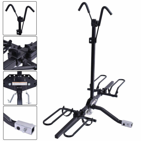 Costway 2 Bike Carrier Platform Hitch Rack Bicycle Rider Mount Fold Receiver 2quot; $95.49