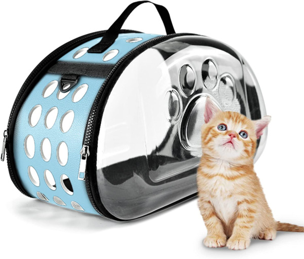 NFTIGB Pet Clear Carrier,cat Carrier,Dog Carriers for Small Dogs,TSA Approved pe $44.17