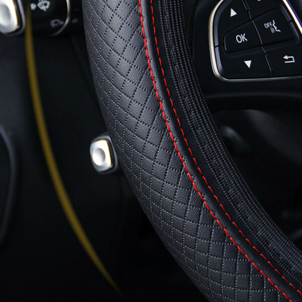 Universal Car Steering Wheel Cover PU Leather Good Grip Auto Accessories 15quot; $8.97