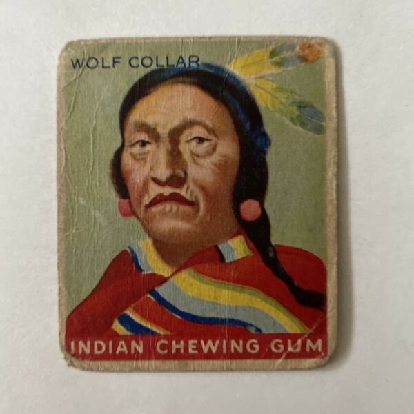 1947 Goudey Indian Chewing Gum Wolf Collar Card #93 $19.99