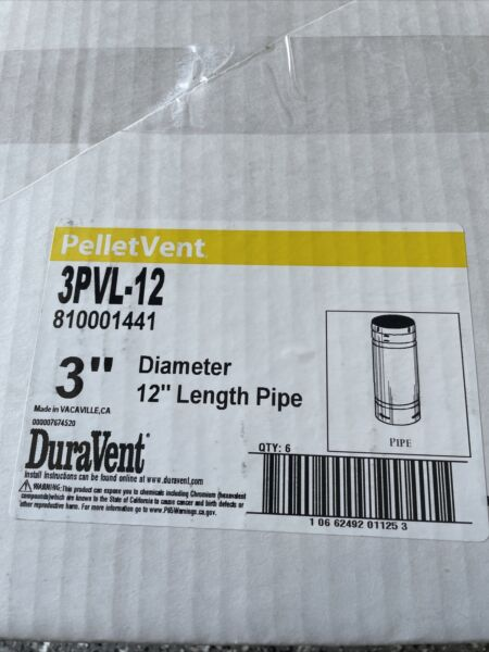 DuraVent PelletVent 3PVL 12 3quot; x 12quot; Double Wall Pellet Pipe Free Shipping $24.99