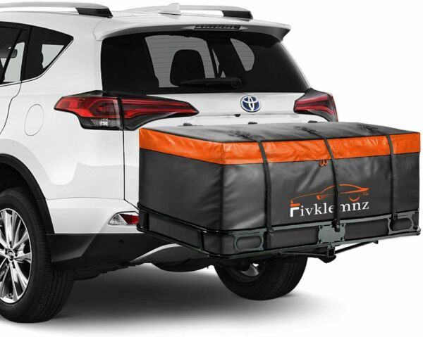 FIVKLEMNZ Car Cargo Carrier Bag 20 Cubic Feet Waterproof Hitch Tray6 Straps $169.95