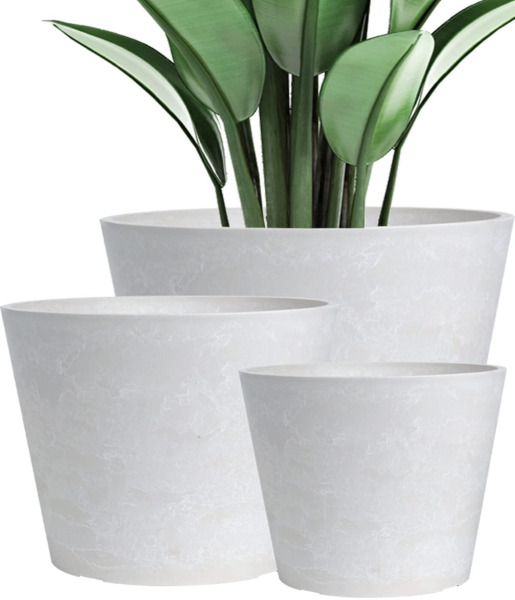 Flower Pots Outdoor Indoor Large Planter White Pots for Plants Outdoor Plant $175.05