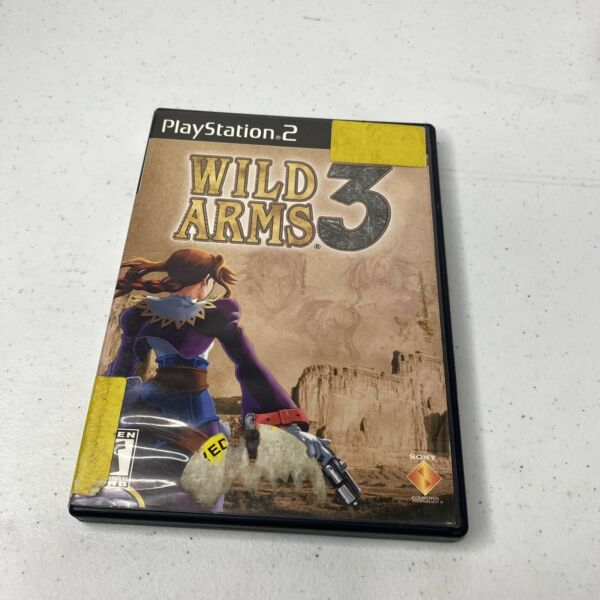 Wild Arms 3 for Sony PlayStation 2 Black Label w Case Cover amp; Game Disc PS2 $24.99