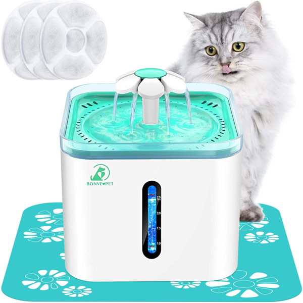 Cat Water Fountain 2.5L Automatic Pet Water Fountain for Indoor Dogs Cats Kitty $30.99