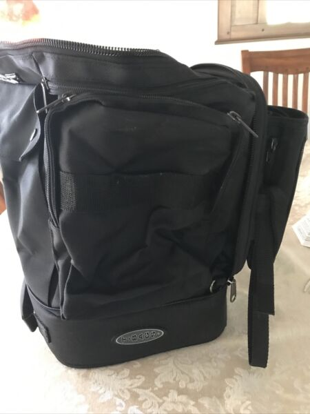 T Bags Large Motorcycle Bag Convertible Backpack Expandable Adjustable Straps $55.00