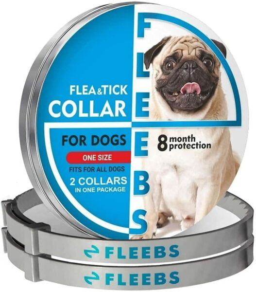 2 Pack Dog Flea and Tick Collar Adjustable Prevention One Size 24.4 in $14.99