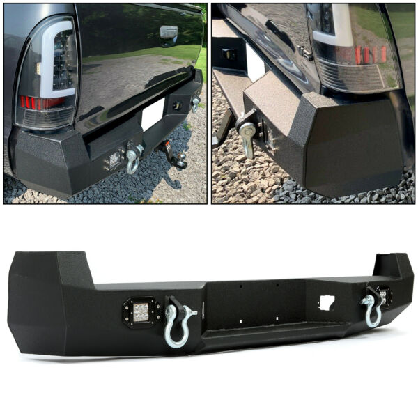 HECASA Black Rear Bumper For 05 15 Toyota Tacoma w License Plate LED Lights $339.00