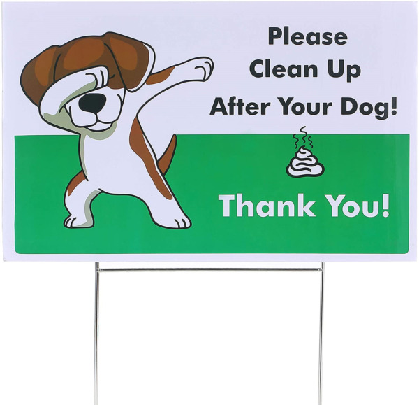 Yard Signs No Pooping Dog Signs for Yard Pick Up Your Dog Poop Signs Dog $9.90