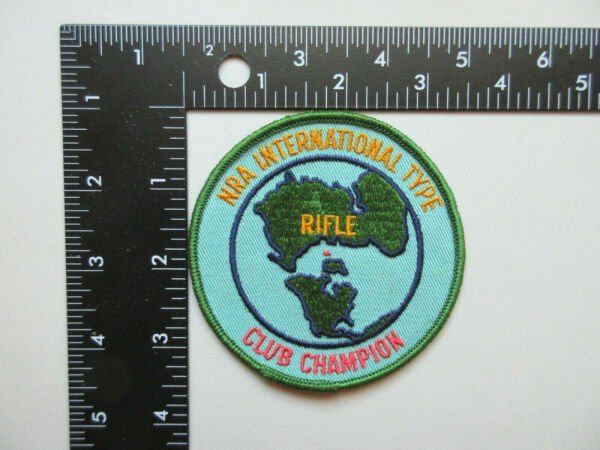 NRA INTERNATIONAL TYPE RIFLE CLUB CHAMPION JACKET VEST COLLECTIBLE PATCH $9.95