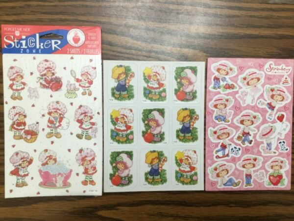 Vintage Strawberry Shortcake Scratch N Sniff amp; Christmas Stickers RARE