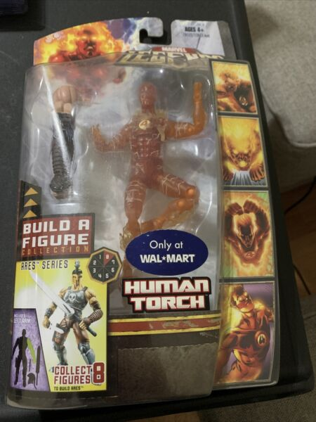 Marvel Legends Human Torch Ares Build a Figure Series Walmart Exclusive