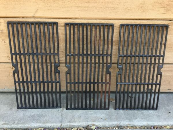 Set of 3 Char Broil Cast Iron Grill Grates