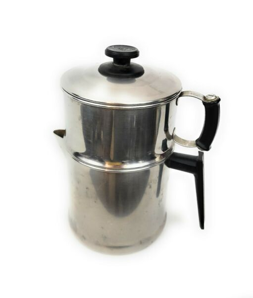 Vintage Lifetime 18 8 Stainless Steel Drip Coffee Pot Complete
