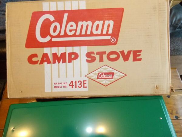 VINTAGE COLEMAN STOVE IN BOX. 1954 62. NEW IN BOX