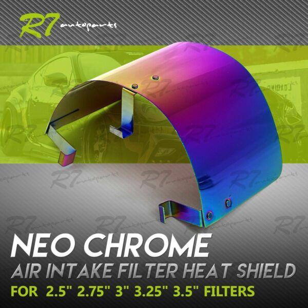 FIT CHEVY STAINLESS STEEL 2.2 3.5quot; AIR INTAKE FILTER HEAT SHIELD COVER NEOCHROME $21.99