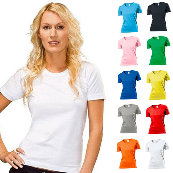 Stedman Damen T-Shirt Classic Woman Lady Fit Baumwolle S M L XL