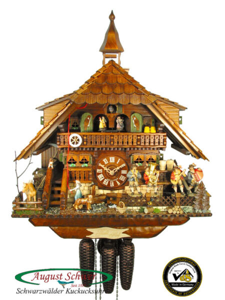 Black Forest Cuckoo Clock 8-Day Black Forest Oompah Band 22.8