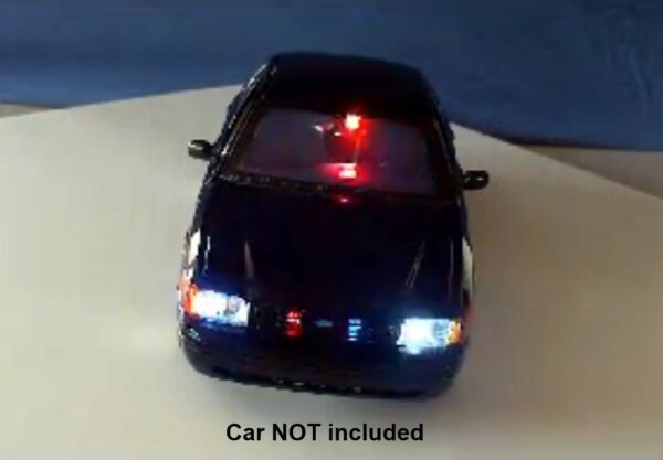 Diecast Police LED Lights and Siren. Modify your own model or RC car! 19 LED's!