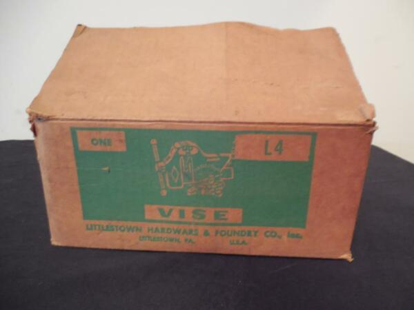 Vintage Littlestown Hardware amp; Foundry Company One L4 Vise Littco Box Only Empty