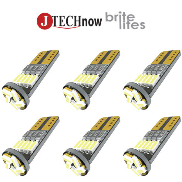Jtech 6x T10 15 SMD Super Bright LED Bulb Dome Map Door Courtesy License Plate