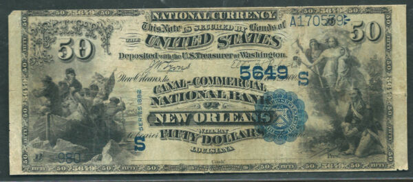 $50 1882-VB=FR.586=FIFTY DOLLAR VALUE BACK=-ULTIMATELY RARE=PCGS-15
