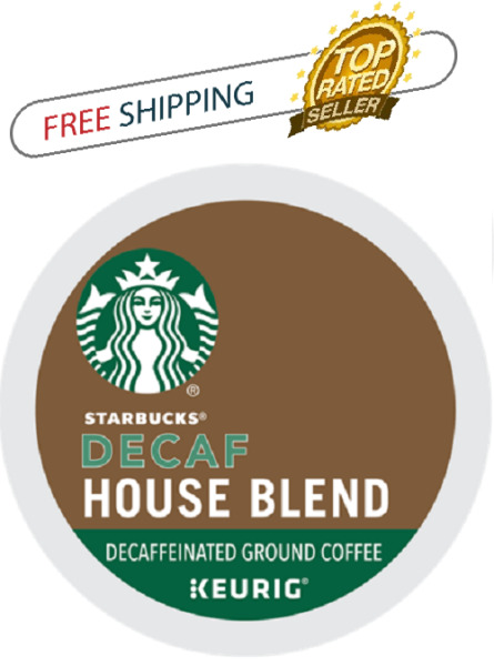 FRESH Starbucks House Blend Decaf Keurig K-cups Coffee PICK THE SIZE Ships FREE